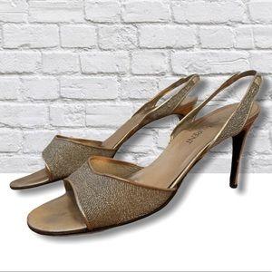 Vintage YSL Gold Heels!